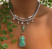 Mini Mint Jade Necklace - BERNA PECI JEWELRY