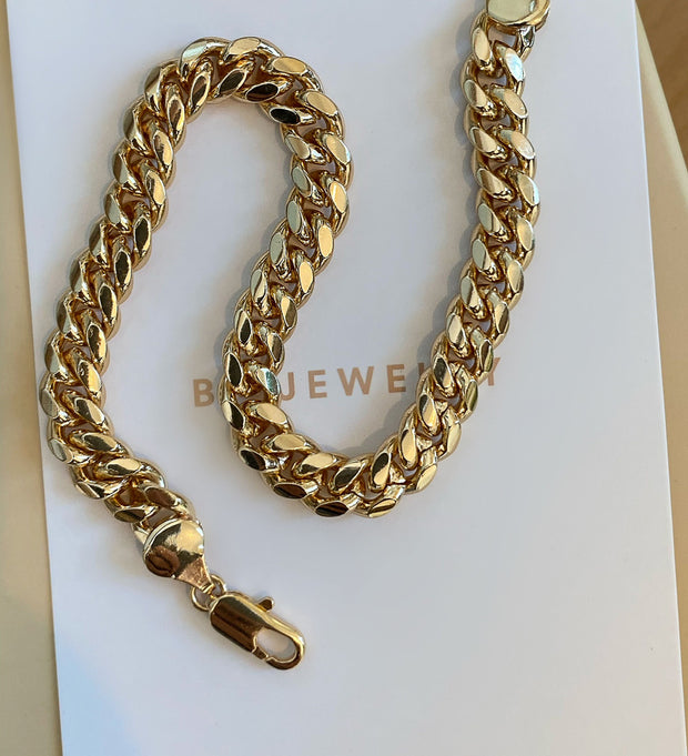 Thick Summer Essential Gold Anklet - BERNA PECI JEWELRY