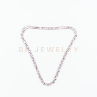 Pink Square Diamond Chain - BERNA PECI JEWELRY