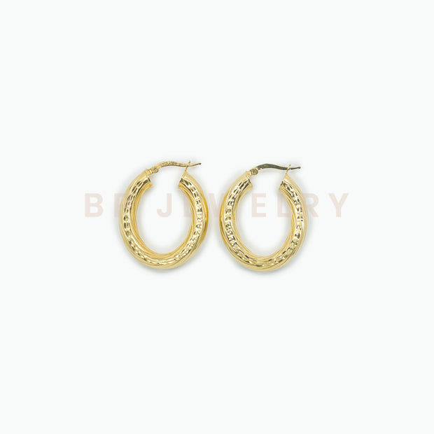 Popular Solid Gold Hoops - BERNA PECI JEWELRY
