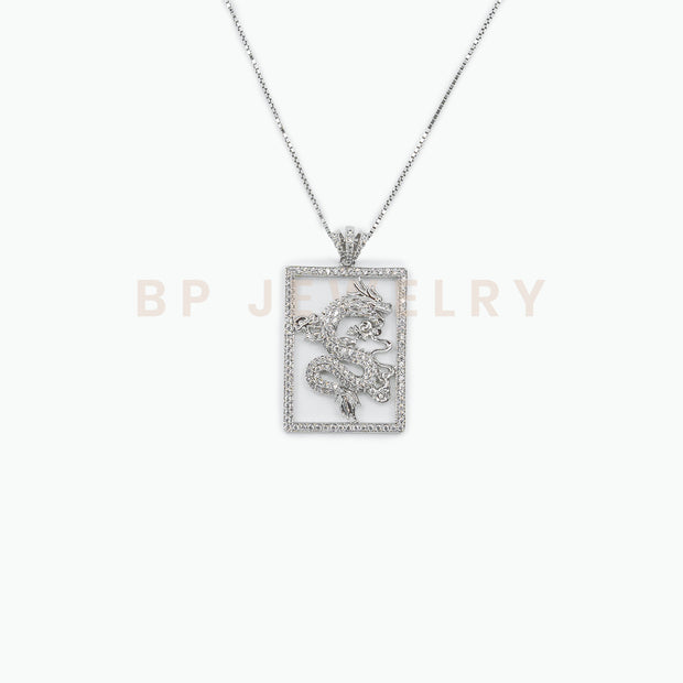 All Silver Dragon Charm - BERNA PECI JEWELRY