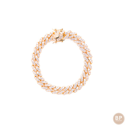 Gold Cuban Anklet - BERNA PECI JEWELRY