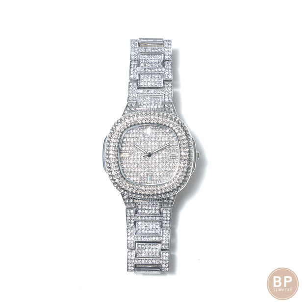 Iced Out Mini Square Watch - BERNA PECI JEWELRY
