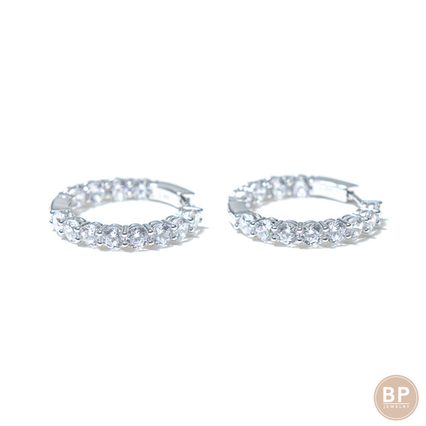 Mini Day One Silver Hoops - BERNA PECI JEWELRY