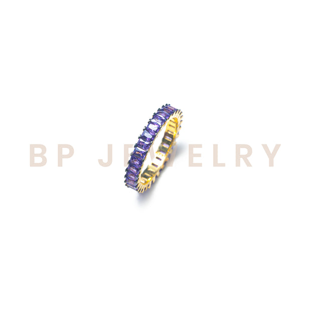 Purple Rectangle Band - BERNA PECI JEWELRY