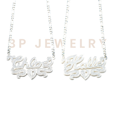 Double Plated Custom Nameplate - BERNA PECI JEWELRY