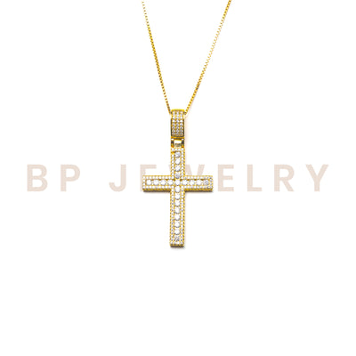 The Classic Gold Skinny Cross - BERNA PECI JEWELRY