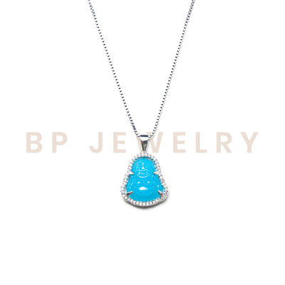 Mini Baby Blue Buddha - BERNA PECI JEWELRY