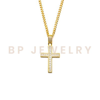 Essential Crystal Gold Cross - BERNA PECI JEWELRY