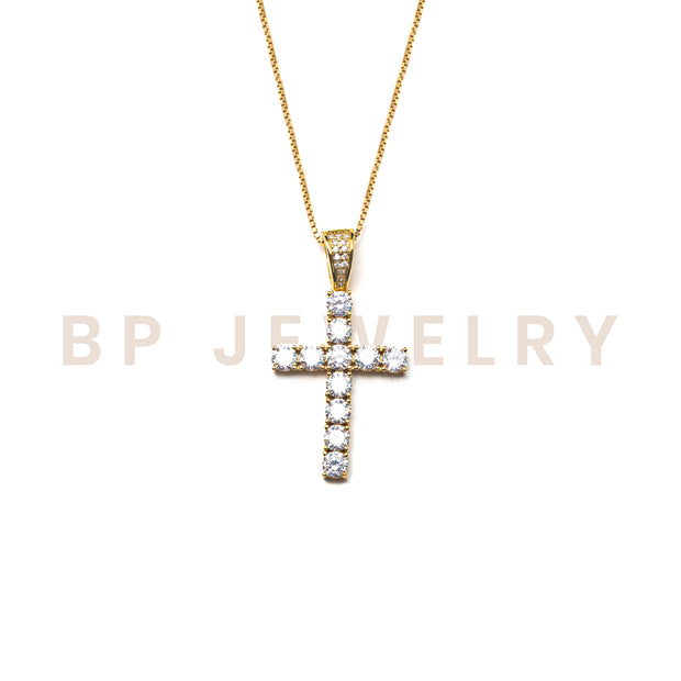 New Everyday Crystal Gold Cross - BERNA PECI JEWELRY