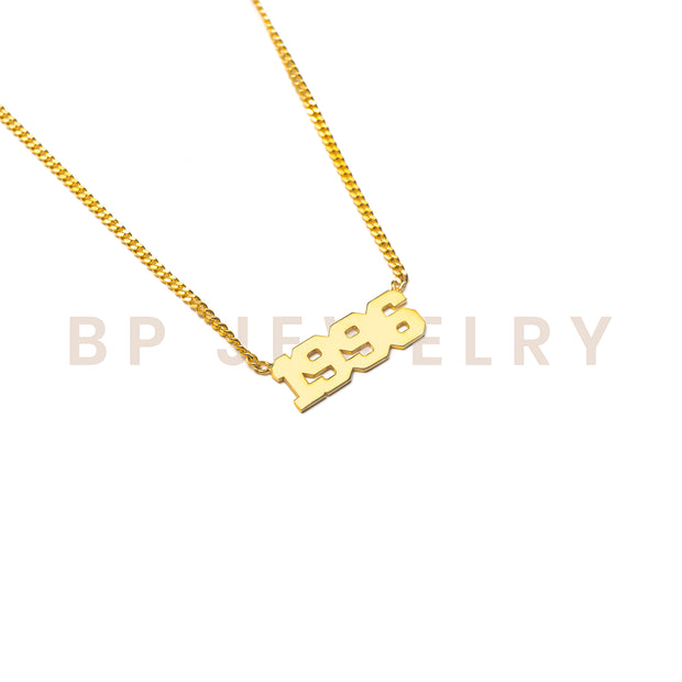 Custom Birth Year Chain - BERNA PECI JEWELRY