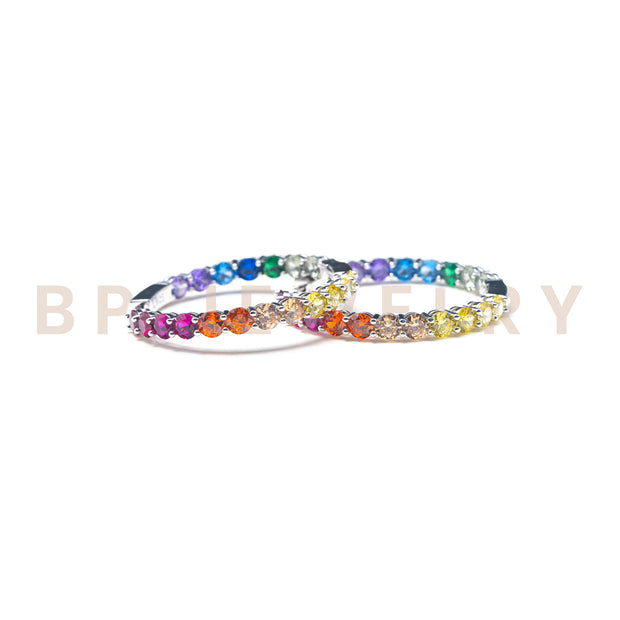 Crystal Rainbow Hoops - BERNA PECI JEWELRY