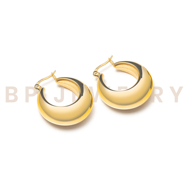 Mini Gold Ultimate Hoops - BERNA PECI JEWELRY