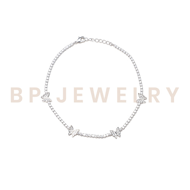Butterfly Tennis Anklet - BERNA PECI JEWELRY