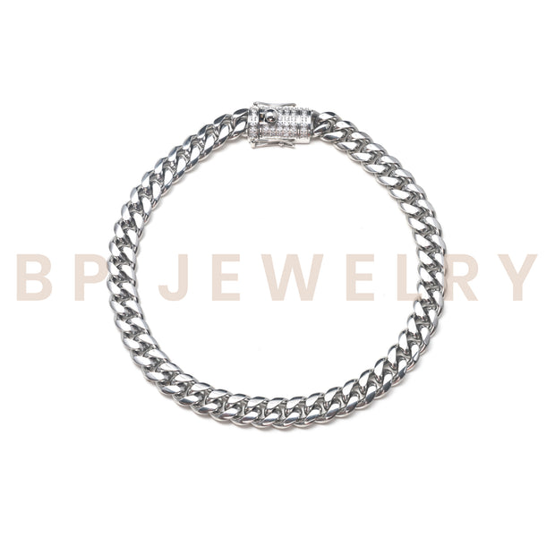 Thick Essential Silver Anklet - BERNA PECI JEWELRY