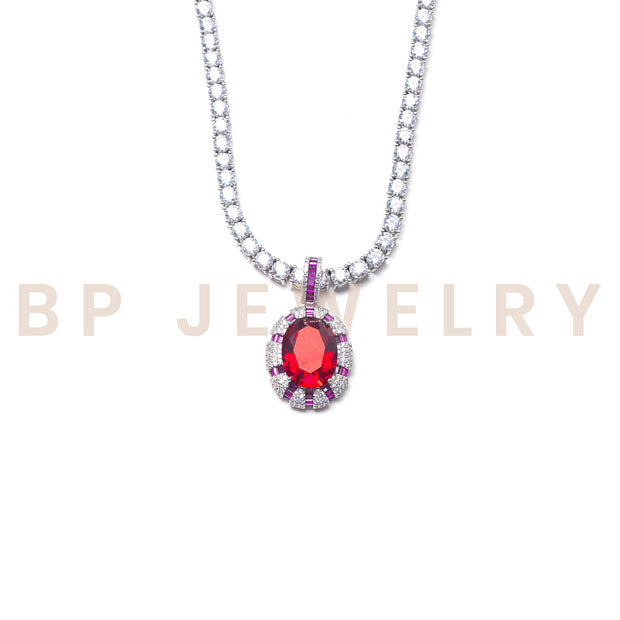Fairytale Deep Red Diamond Necklace - BERNA PECI JEWELRY