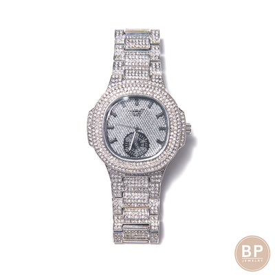 Large Iced Out BP Watch - BERNA PECI JEWELRY