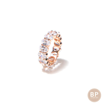 Rose Gold Oval Band - BERNA PECI JEWELRY