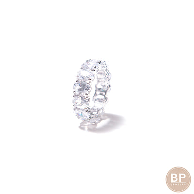 Thicker Oval Cut Eternity Band - BERNA PECI JEWELRY