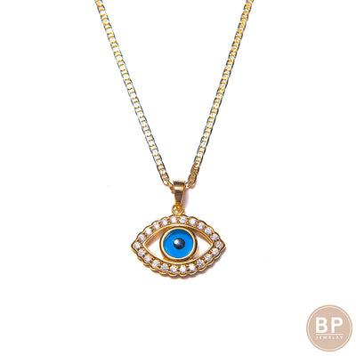Diamond Evil Eye Necklace - BERNA PECI JEWELRY