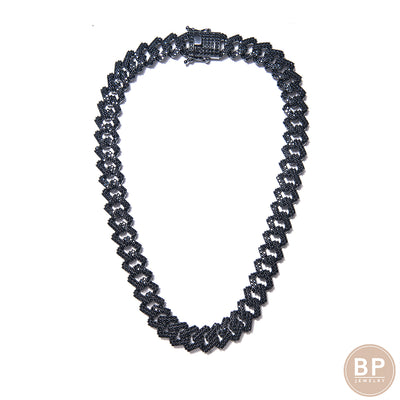 All Black Cuban Necklace - BERNA PECI JEWELRY