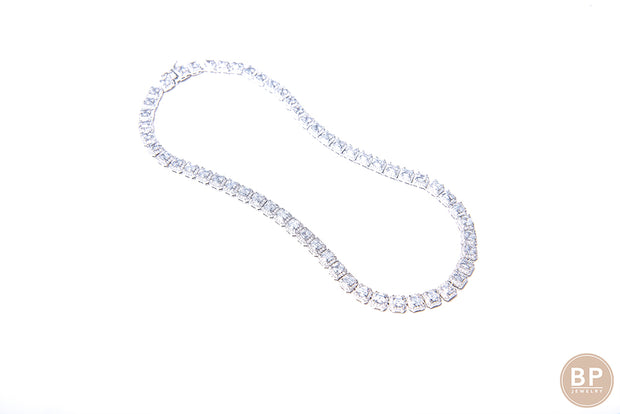 Classic Square Diamond Necklace - BERNA PECI JEWELRY