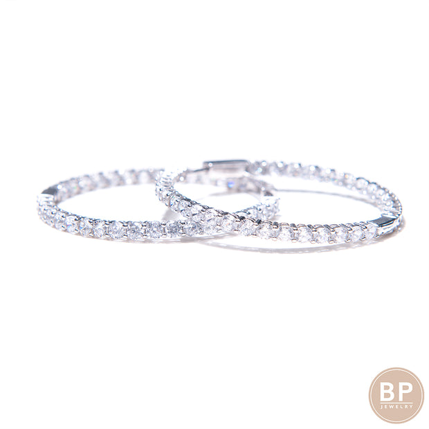 Original Diamond Hoops - BERNA PECI JEWELRY