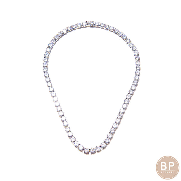 New Thicker Original Silver BP Diamond Necklace - BERNA PECI JEWELRY