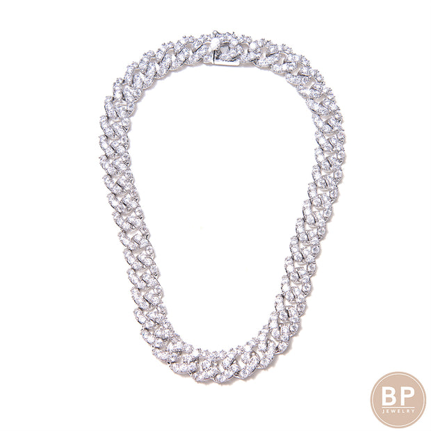 New All Around Diamond Link - BERNA PECI JEWELRY