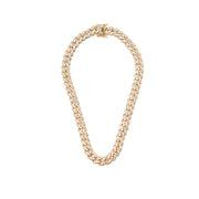 Gold Diamond Traditional Link Necklace - BERNA PECI JEWELRY