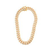 Thicker Cuban Link Gold Necklace - BERNA PECI JEWELRY