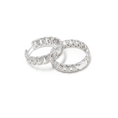 Classic Link Silver Hoops - BERNA PECI JEWELRY