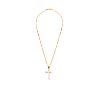 That BP Cross Gold Necklace - BERNA PECI JEWELRY