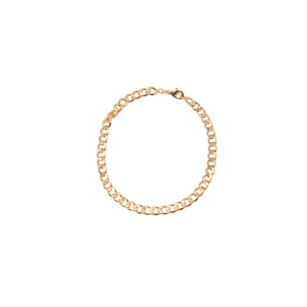 BP Link Gold Anklet - BERNA PECI JEWELRY