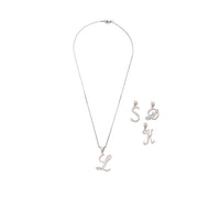 Silver Silk Initials Necklace - BERNA PECI JEWELRY