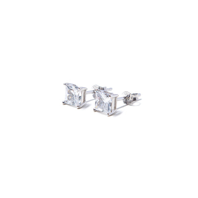 Classic Square Studs Silver Earrings - BERNA PECI JEWELRY