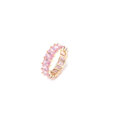 Pink Square Ring - BERNA PECI JEWELRY