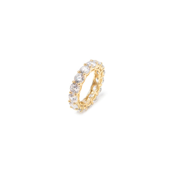 Gold Circular Ring - BERNA PECI JEWELRY