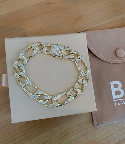 Gold Icy Cuban Bracelet - BERNA PECI JEWELRY