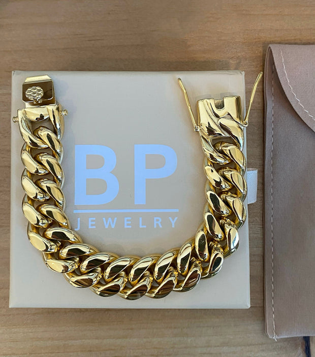 Staple Gold BP Link Bracelet - BERNA PECI JEWELRY