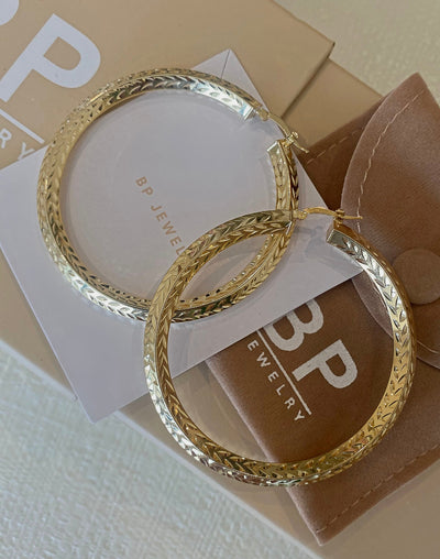 Large Thick Gold Summer Essential Hoops - BERNA PECI JEWELRY