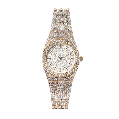 Gold Iced Out Watch - BERNA PECI JEWELRY