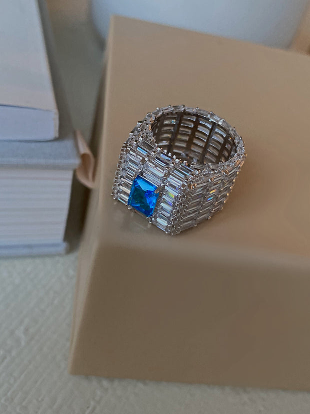 Angel Energy Blue Icy Ring