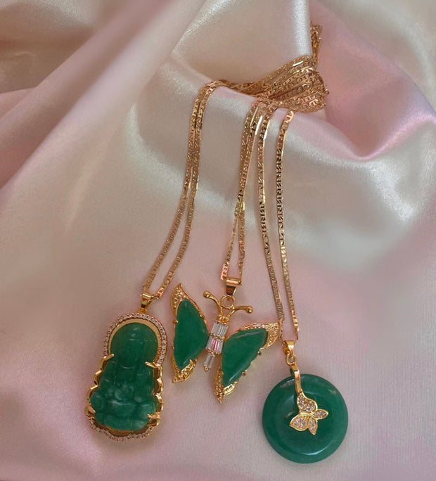 BP Butterfly Jade Necklace - BERNA PECI JEWELRY