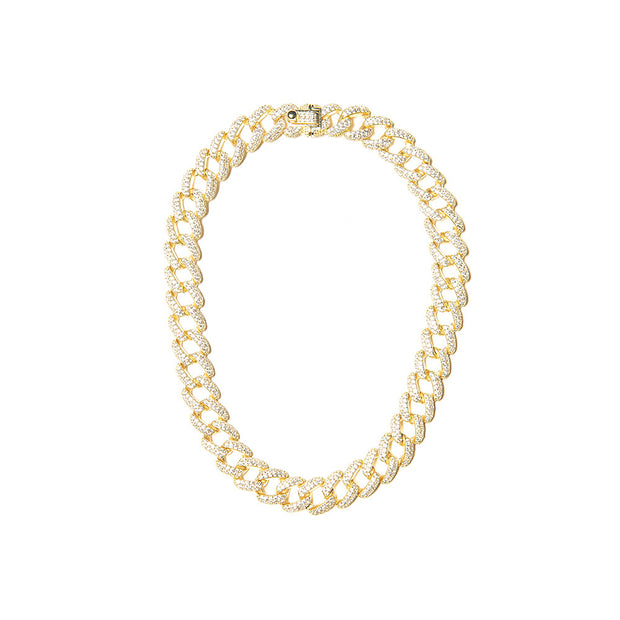 Cuban Link Gold Anklet - BERNA PECI JEWELRY