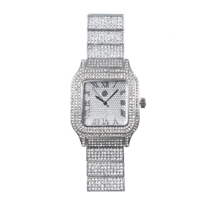 Square Iced Out Watch - BERNA PECI JEWELRY