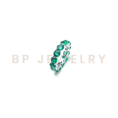 Emerald Circular Band - BERNA PECI JEWELRY