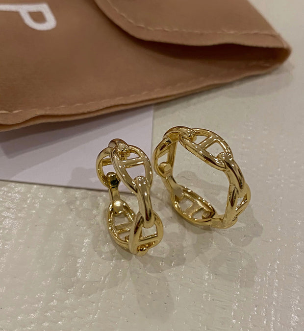 Gucci Link Gold Band - BERNA PECI JEWELRY