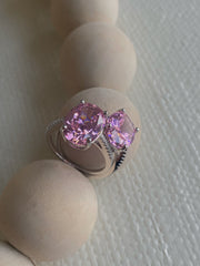 Blush Pink Stone Ring - BERNA PECI JEWELRY
