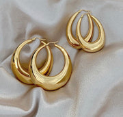 The Oval Vintage Large Hoops - BERNA PECI JEWELRY